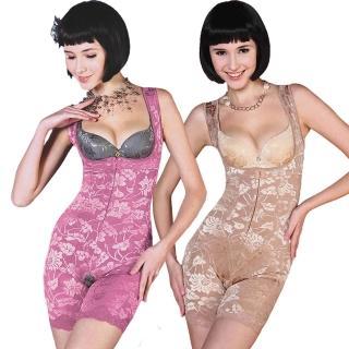 【保奈美】420丹鍺炭機能連身塑衣2+2件組(加送竹炭束褲)