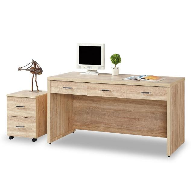 【時尚屋】波香橡木5尺書桌-活動櫃 5U7-456-5+456-1(免運費 書房 書桌)