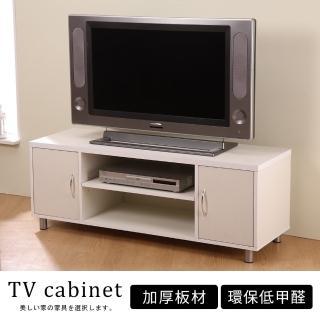 【Akira】經典木紋雙門收納電視櫃/視聽櫃(2色選)