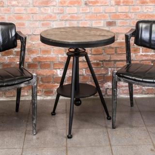 【Bernice】布蘭頓工業風實木升降小茶几/邊桌/吧台桌