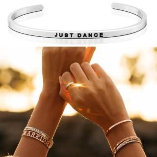 【MANTRABAND】美國悄悄話手環 Just Dance 盡情地跳舞吧 銀色(悄悄話手環)