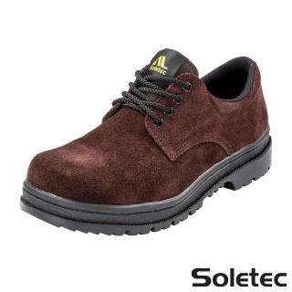 【Soletec超鐵安全工作鞋】c106505超鐵真皮 鞋帶款工作鞋(安全工作鞋 休閒鞋 皮鞋)