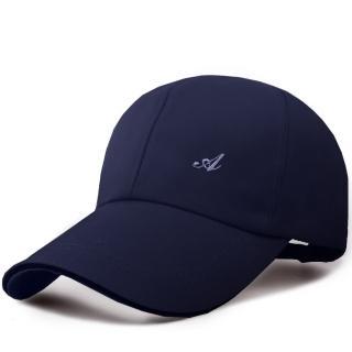 【幸福揚邑】防風防曬舒適透氣戶外運動字母刺繡棒球帽鴨舌帽(藏青)