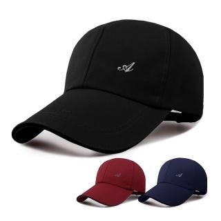 【幸福揚邑】防風防曬舒適透氣戶外運動字母刺繡棒球帽鴨舌帽(黑)