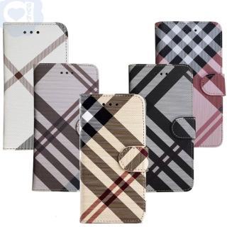 【Apple】iPhone 6/6s 英倫格紋氣質手機皮套 側掀磁扣支架式皮套 矽膠軟殼(5色可選)