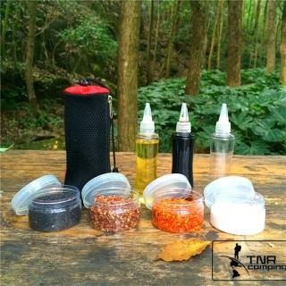 【May Shop】TNR升級大容量 高品質戶外調味瓶 油瓶 醬油瓶 調味罐 收納組 露營 廚房調味(尖嘴瓶+圓盒)