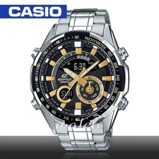 【CASIO 卡西歐 EDIFICE 系列】時尚精選_雙顯設計_超亮LED照明_溫度測量_世界時間_男錶(ERA-600D)