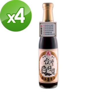 【瑞春醬油】台灣好醬黑豆醬油X4入(420ml/瓶)