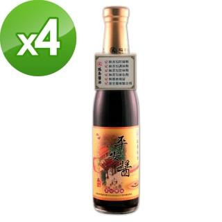 【瑞春醬油】平安醬黑豆醬油X4入(420ml/瓶)