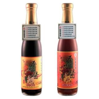 【瑞春醬油】平安醬黑豆醬油+黑豆油膏(420ml/瓶)