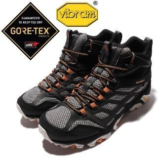 【MERRELL】戶外鞋 Moab FST MID 運動 男鞋 Gore-Tex 高筒 登山 越野 防水 耐磨(ML35737)