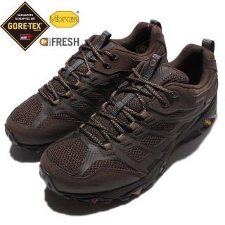 【MERRELL】戶外鞋 Moab FST Gore-Tex 男鞋 休閒 登山 越野 耐磨 黃金大底 防水 黑 咖啡(ML36983)