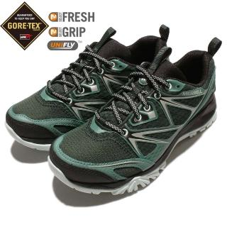 【MERRELL】戶外鞋 Capra Bolt Gore-Tex 女鞋 運動 休閒 戶外 登山 越野 耐磨 防水 綠 黑(ML35954)