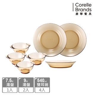 【美國康寧 Pyrex】透明耐熱餐盤7件組(701)