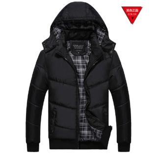 【NBL-NEWBOYLONDON】J0279BK黑色韓版可拆帽鋪棉加厚外套(棒球領風衣外套)