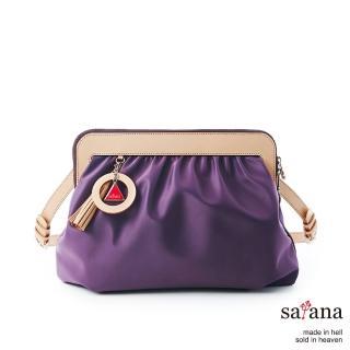 【satana】經典懷舊側肩包(紫水晶)