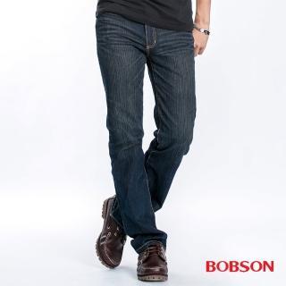 【BOBSON】男款直筒牛仔褲(藍1741-53)