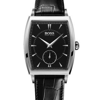 【Hugo Boss Black】簡約酒桶流線時尚計時腕錶34MM(H1512845)