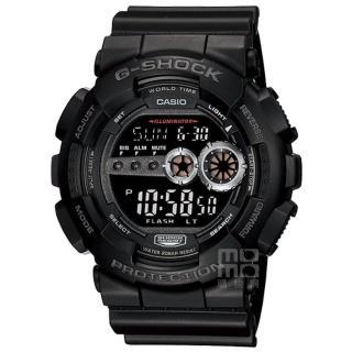 【CASIO】卡西歐G-SHOCK 電子錶-黑(GD-100-1B)