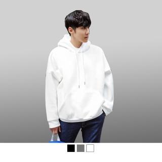 【男人幫】CH644情侶大學T素面連帽刷毛T恤雙面加厚長袖580克
