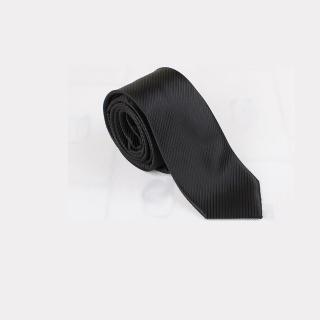 【拉福】斜紋6cm中窄版領帶手打領帶(黑色防水)