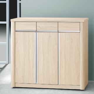 【樂和居】瀰雅浮雕梧桐木4尺鞋櫃(二色可選)