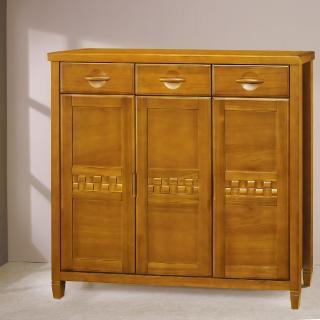 【樂和居】普羅希斯柚木色4尺鞋櫃