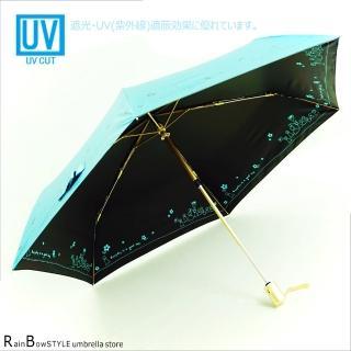 【RainBow】雨天娃娃-防曬降溫超輕自動傘(深海藍)
