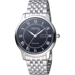 【SEIKO 精工】Presage 羅馬假期機械錶(4R36-04E0X 銀x黑 SRP765J1)