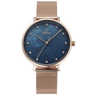 【OBAKU】吾愛之名時尚米蘭帶錶(V186LXVLMV)