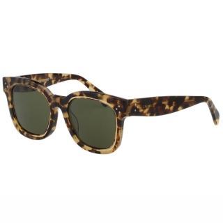 【CELINE】-個性方框 太陽眼鏡(豹紋)