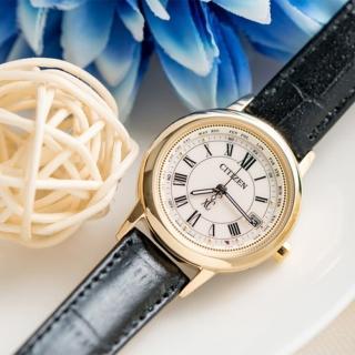 【CITIZEN】電波藍寶鈦時尚光動能腕錶-皮錶帶(EC1142-05B)