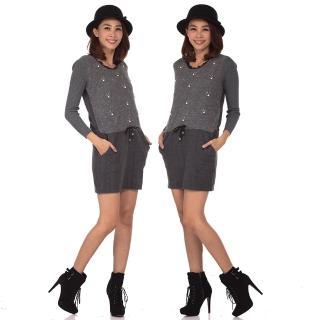 【RH雪莉亞】韓國東大門同步發售(ARH針織毛料長板洋裝)