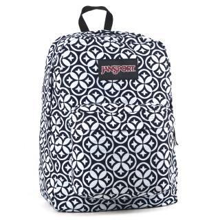 【JanSport】校園背包-SUPER FX(牛仔萬花筒)
