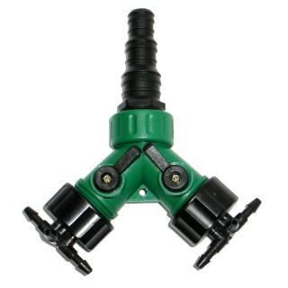 【灑水達人】美規三種不同規格水管轉接2分四孔水管雙通開關球閥