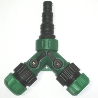 【灑水達人】美規三種不同規格水管轉接4分水管雙通開關球閥