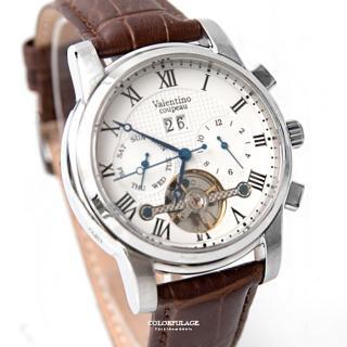 【范倫鐵諾.古柏】精密鏤空機械手錶腕錶