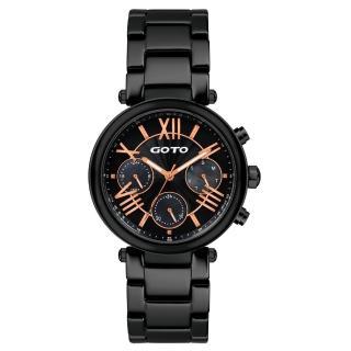 【GOTO】流祈願星時尚陶瓷腕錶(GC0052M-33-341)