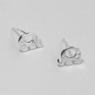 【米蘭精品】耳環流行銀飾品耳針式耳飾(精選簡約可愛小象母親節生日情人節禮物73ag9)