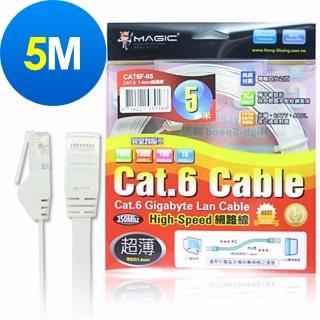 【MAGIC】Cat.6 超薄 Hight-Speed 網路線(5M)