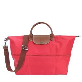 【LONGCHAMP】LE PLIAGE 延展夾層手提/斜背旅行袋(紅)