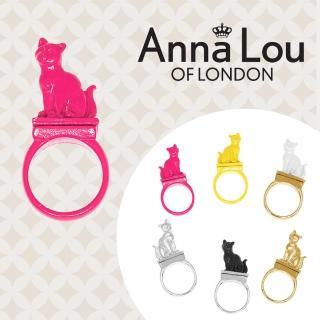 【Anna Lou Of London】倫敦品牌 立體貓咪戒指 桃紅色(絕版品 售完不補)