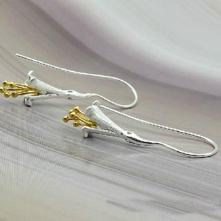 【米蘭精品】耳環流行銀飾品耳針式耳飾(精美牽牛花氣質母親節生日情人節禮物73ag129)