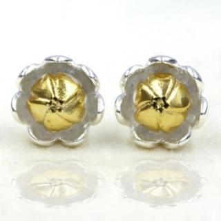 【米蘭精品】耳環流行銀飾品耳針式耳飾(可愛精緻小花蕾時尚母親節生日情人節禮物73ag131)