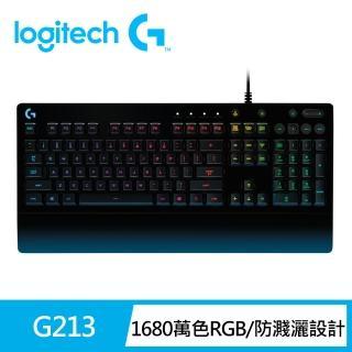 【Logitech 羅技】G213 PRODIGY RGB 遊戲鍵盤