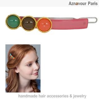 【Aznavour】珠玉玲瓏小扣夾(Pink)