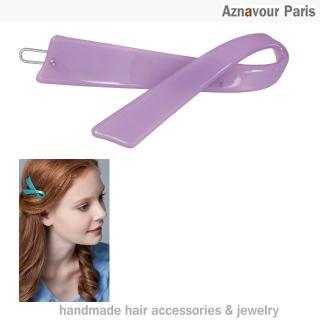 【Aznavour】絲帶造型髮夾(Purple)