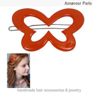 【Aznavour】花蝴蝶簍空扣夾(Red)