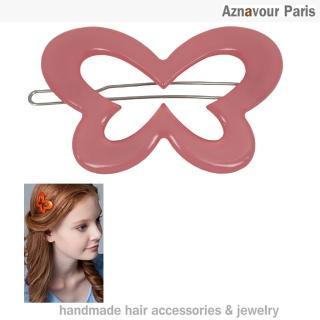 【Aznavour】花蝴蝶簍空扣夾(Pink)