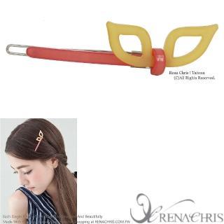 【Rena Chris】兔耳朵橫桿扣夾(Yellow)